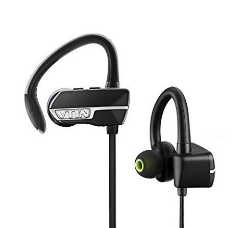 Vtin Bluetooth Earbuds Wireless Sweatproof Sports Headphones (Bluetooth 4.1, Secure Ear Hooks Design, Noise Cancelling and 6 Hours Play Time)