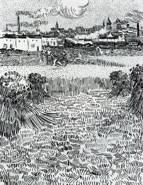 What The Art Teacher Wore 87 Van Gogh Drawings Van Gogh Landscapes Artist Van Gogh
