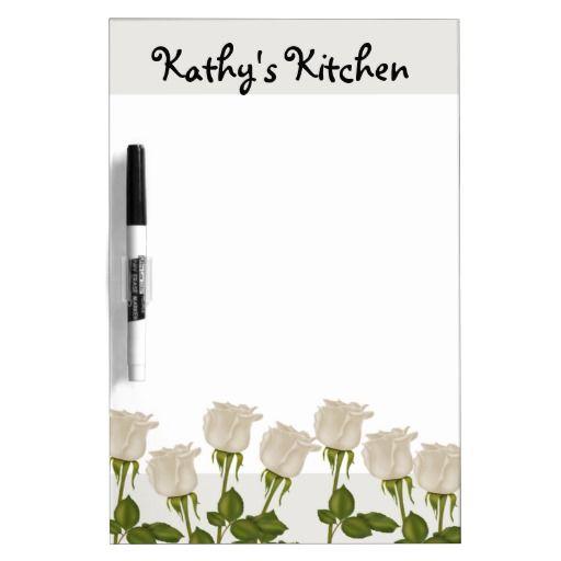 White Roses Dry Erase Board http://www.zazzle.com/white_roses_dry_erase_board-256126063681405206?rf=238631258595245556