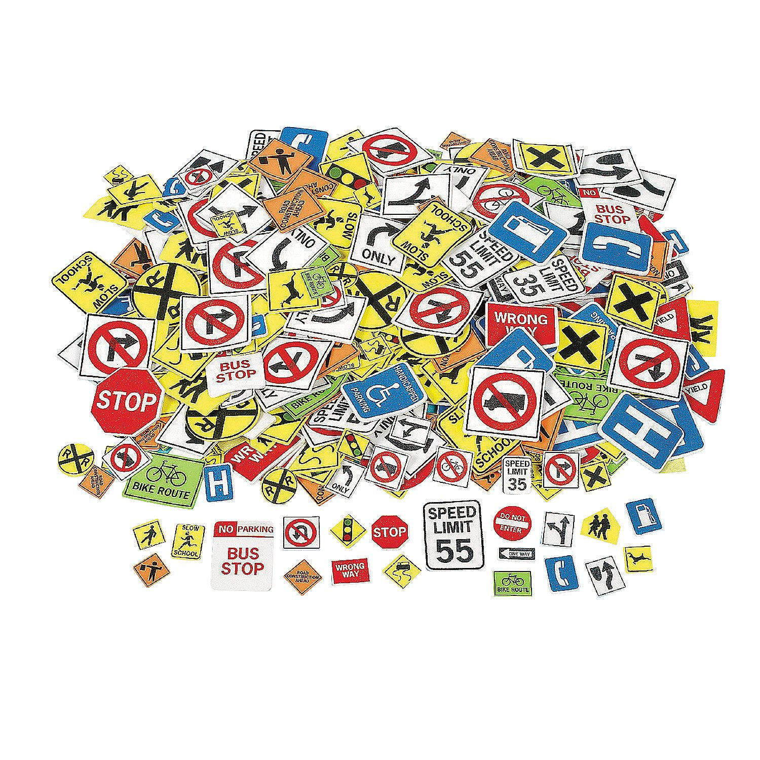Fabulous Foam Self-Adhesive Safety Signs Shapes ...