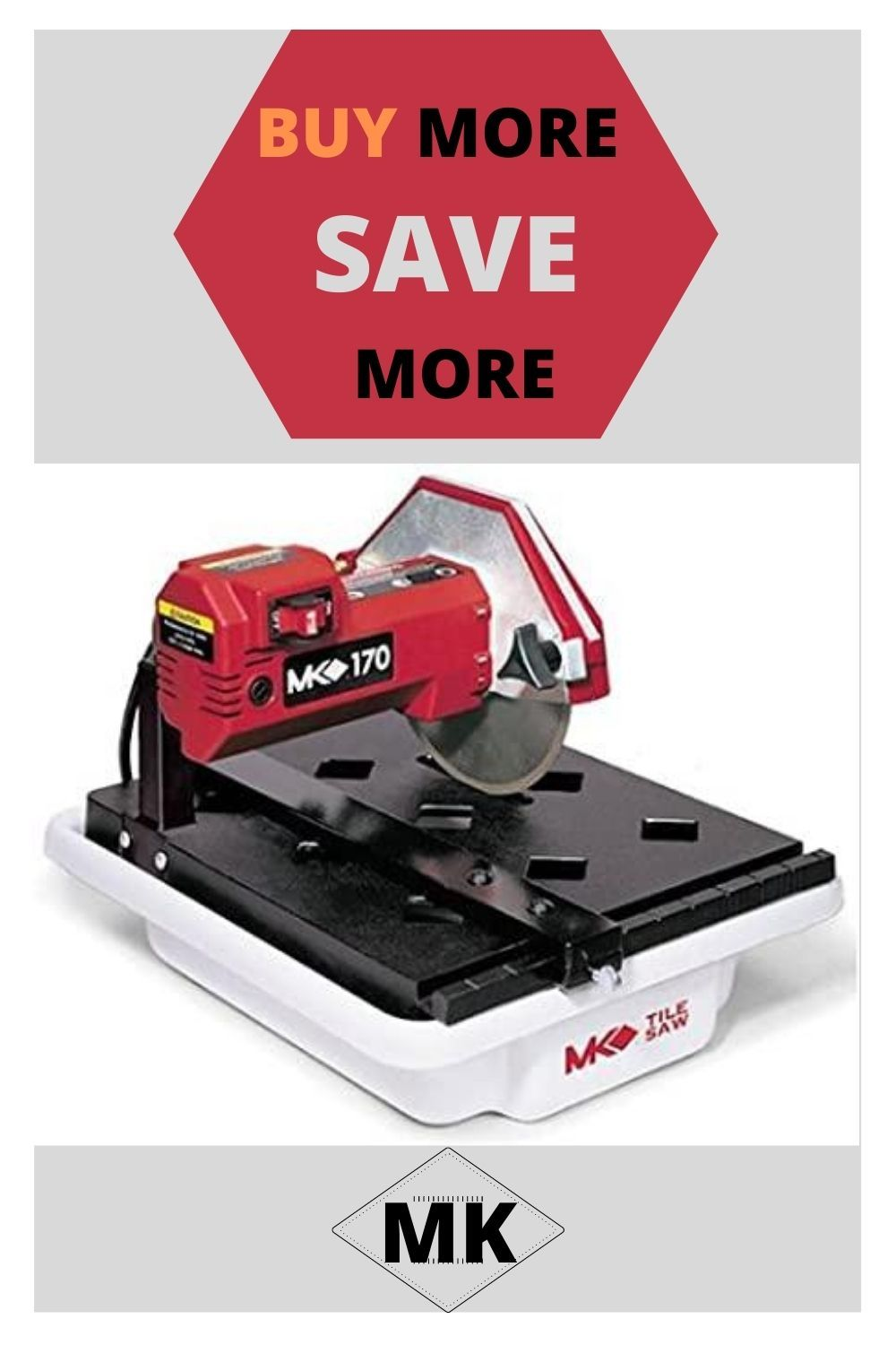 Mk Diamond 157222 Mk 170 1 3 Horsepower 7 Inch Bench Wet Tile Saw Mk In 2020 Tile Saw Tile Saws Wet