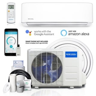 Mrcool Advantage 3rd Gen 24000 Btu 1000 Sq Ft Single Ductless Mini Split Air Conditioner With Heater White Air Conditioner With Heater Air Conditioner Heater Heat Pump