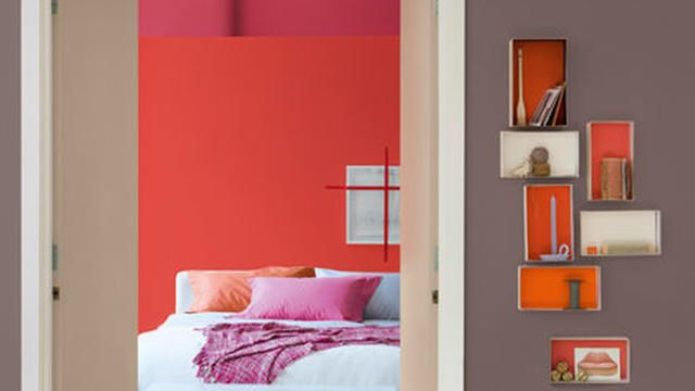 Interieur palet rood aardetinten