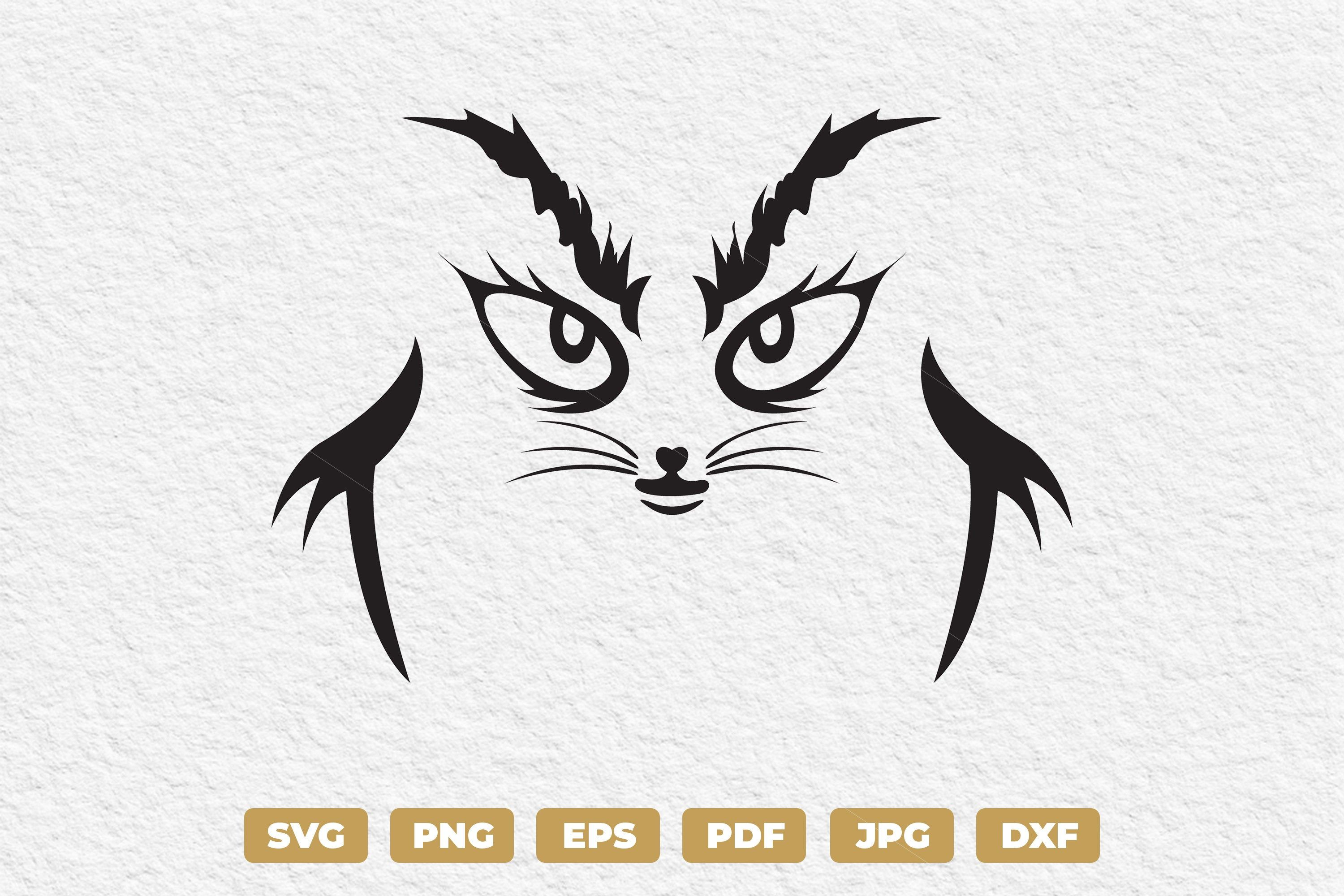 Cat Expression Svg Funny Cat Face Clipart Angry Cat Face Etsy Funny Cat Faces Cat Expressions Cat Face