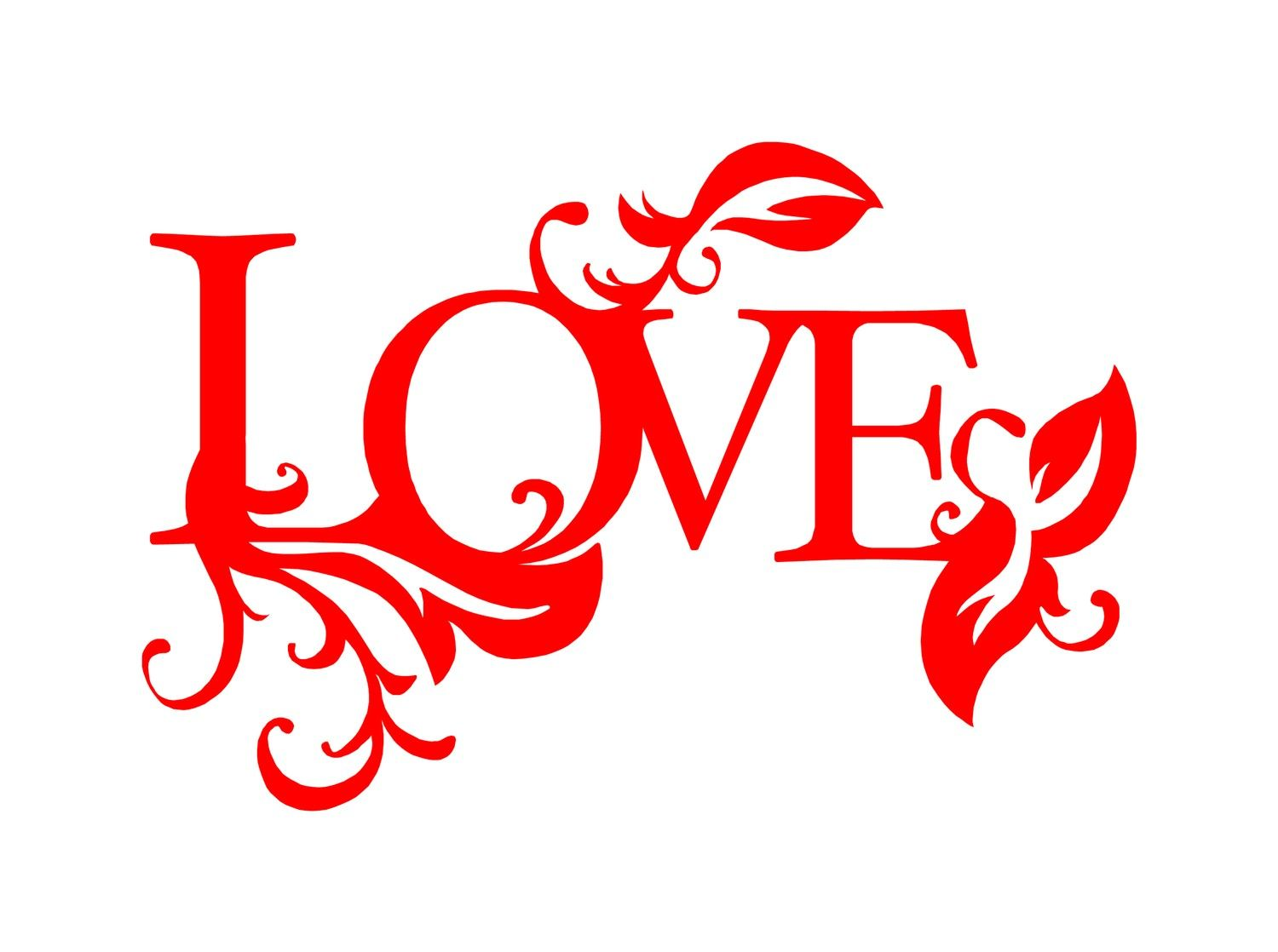 This Love Word Art Decal Is Pretty And Would Look Nice On Your Laptop