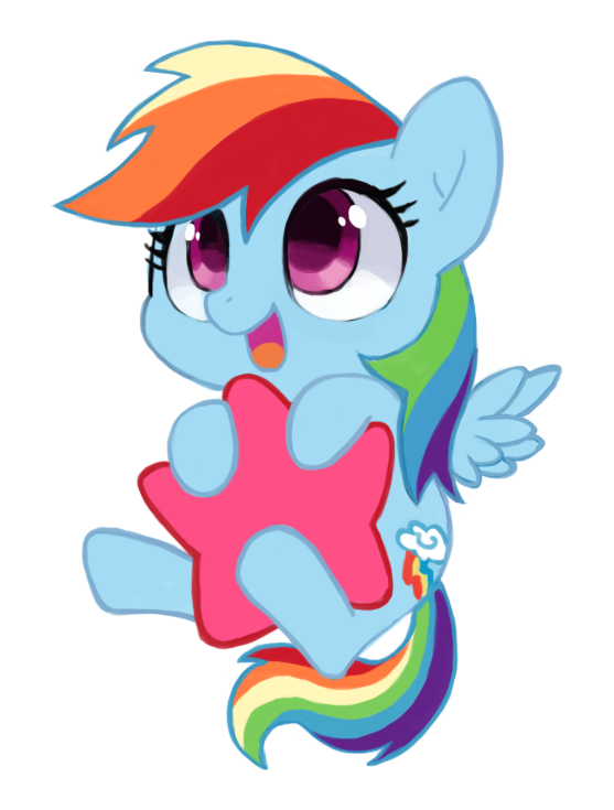Rainbow Dash Is My Least Favorite Pony This However Is Very Sweet