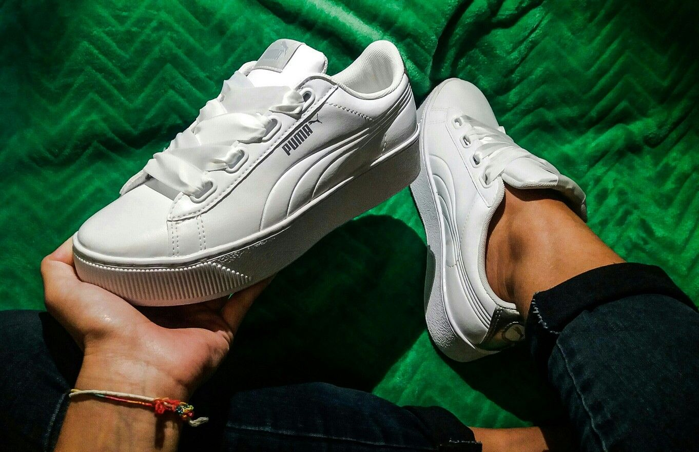 09fee49acd3 Puma vikky ribbon | Shoes | Puma platform, Platform sneakers, Shoes