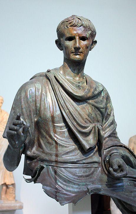 Fragmento de una estatua de Augusto S. I a. C. | Roman ...