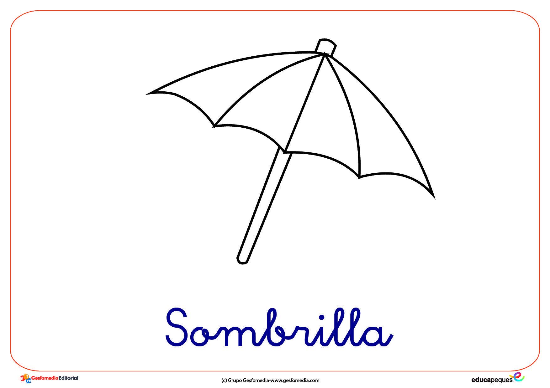 Sombrilla Ficha Verano Colorear El Portal De Educapeques Sombra Playa Dibujo Colores