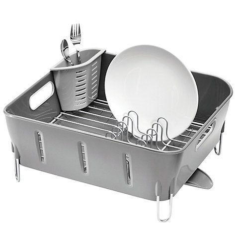 Best Simplehuman Compact Dish Drainer Grey Simplehuman Dish 400 x 300