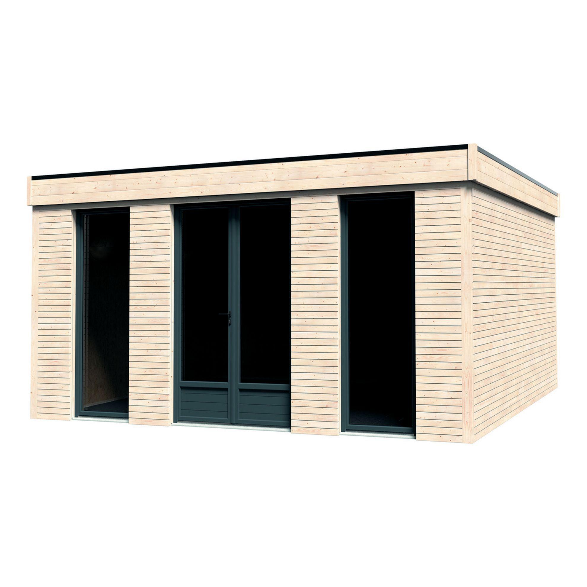 Casetta In Legno Grezzo Decor Home 21 34 M Spessore 90 Mm