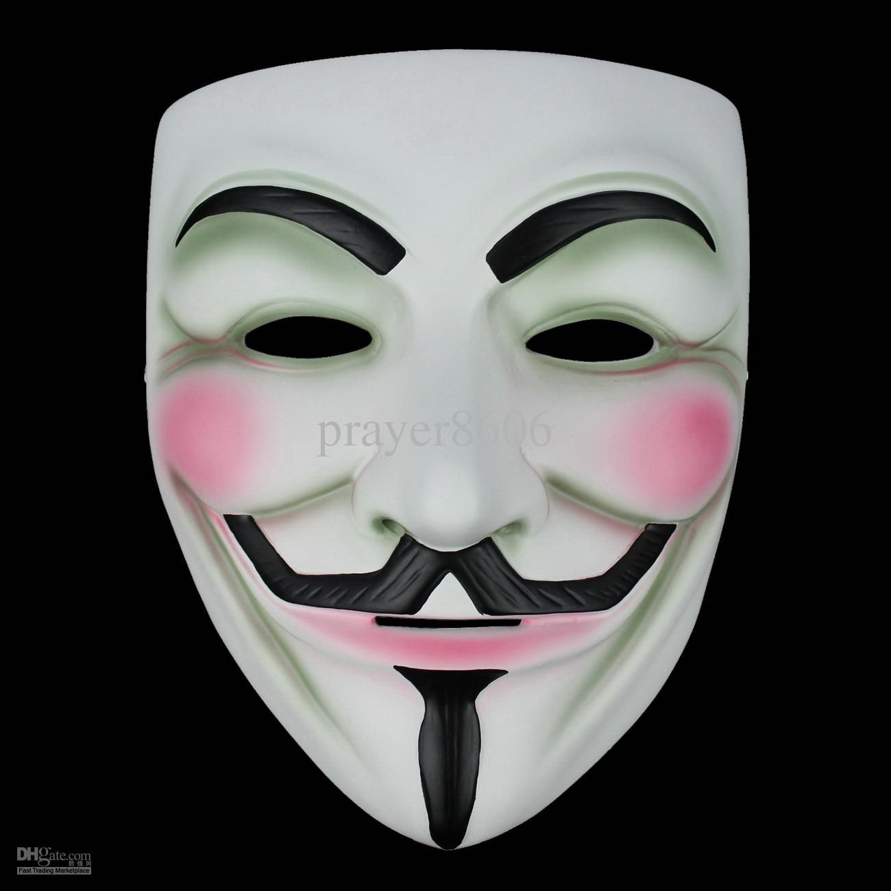 V for Vendetta Mask Halloween Anonymous Guy Fawkes Movie Fancy ...