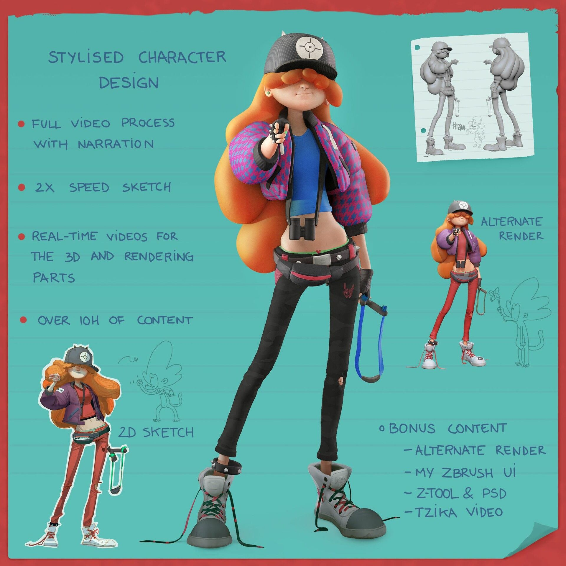 ArtStation - GUMROAD - Stylized Character Design in 2d and 3d, Alex