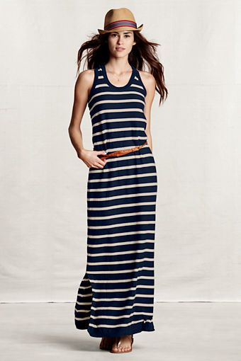 850dff32ac9 Women s Reverse Jersey Striped Sweater Dress from Lands  End Canvas ...