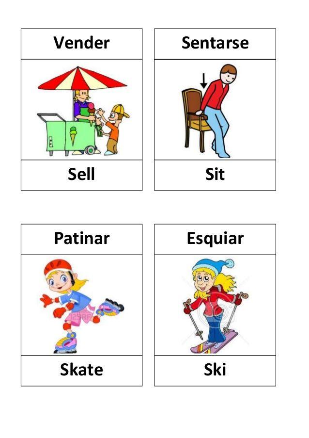 Verbos En Ingles Con Dibujos Verbos Ingles Verbos En Espanol