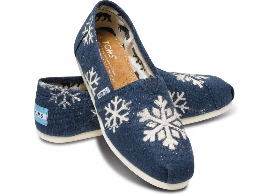01aac86906d Snowflakes! Gabriel Lacktman Hand-Bleached Snowflake Navy Women s Classics  hero
