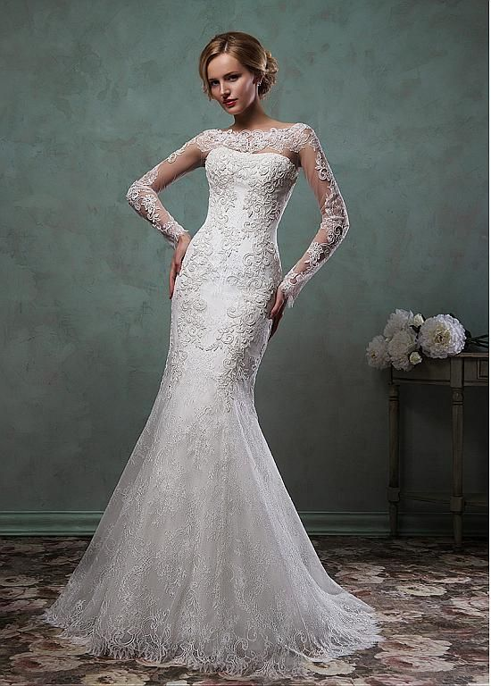 Wonderful Tulle & Organza V-neck Neckline Ball Gown Wedding Dresses ...
