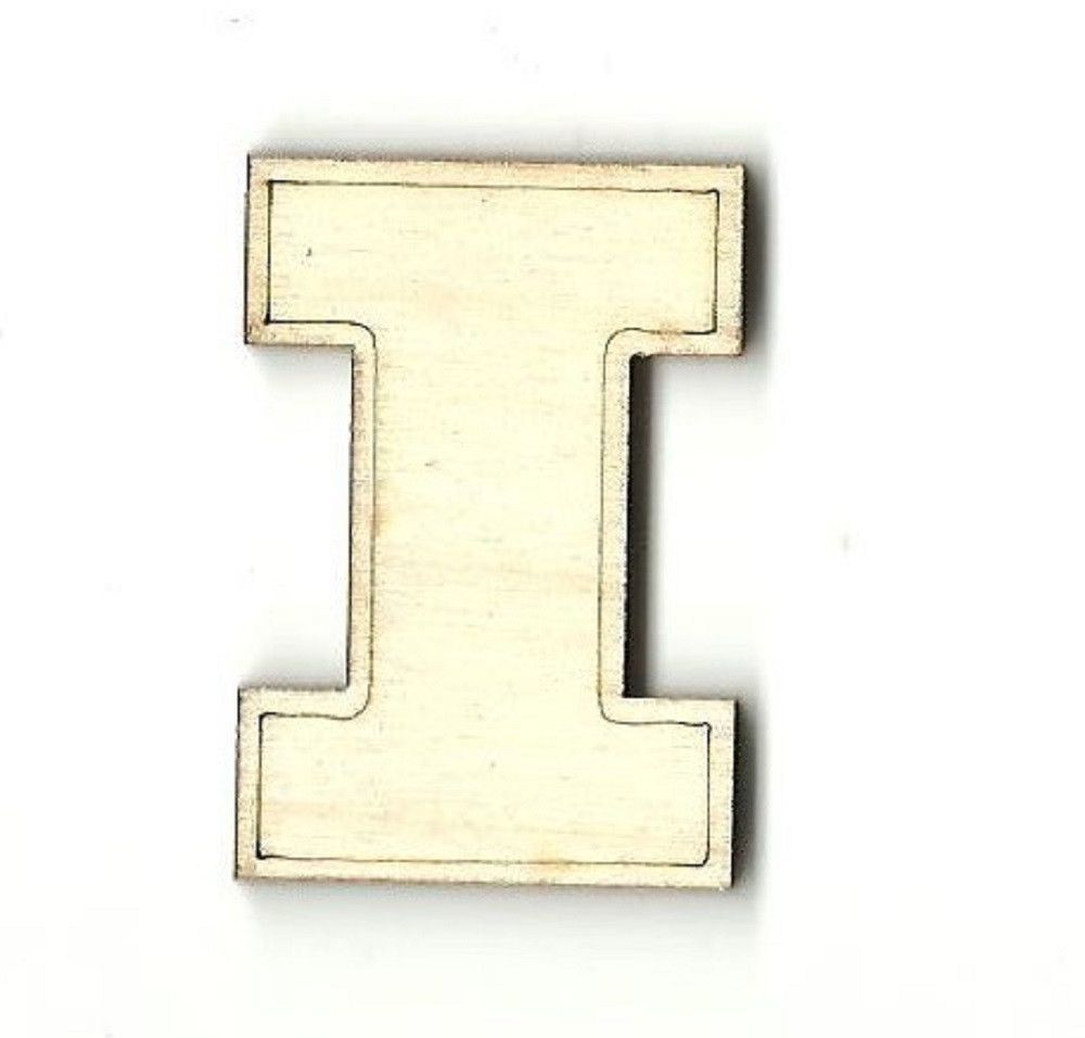 Illinois Unfinished Laser Cut Wood Shape SPT95