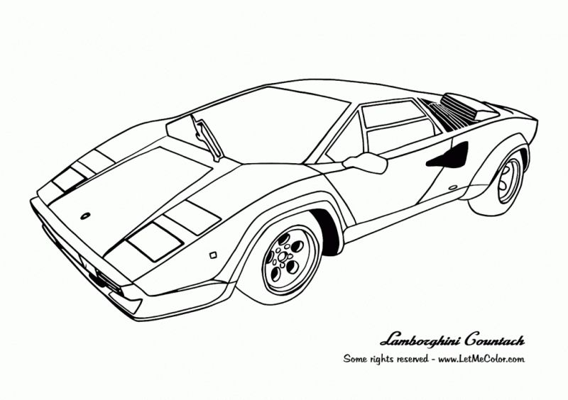 Sports car coloring pages lamborghini