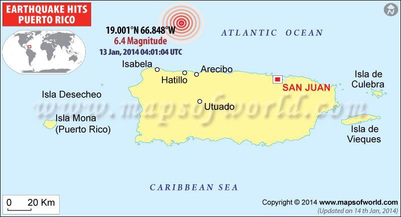 M6.5 Earthquake Hits Puerto Rico - 13 Jan 2014 04:01:04 UTC | World News