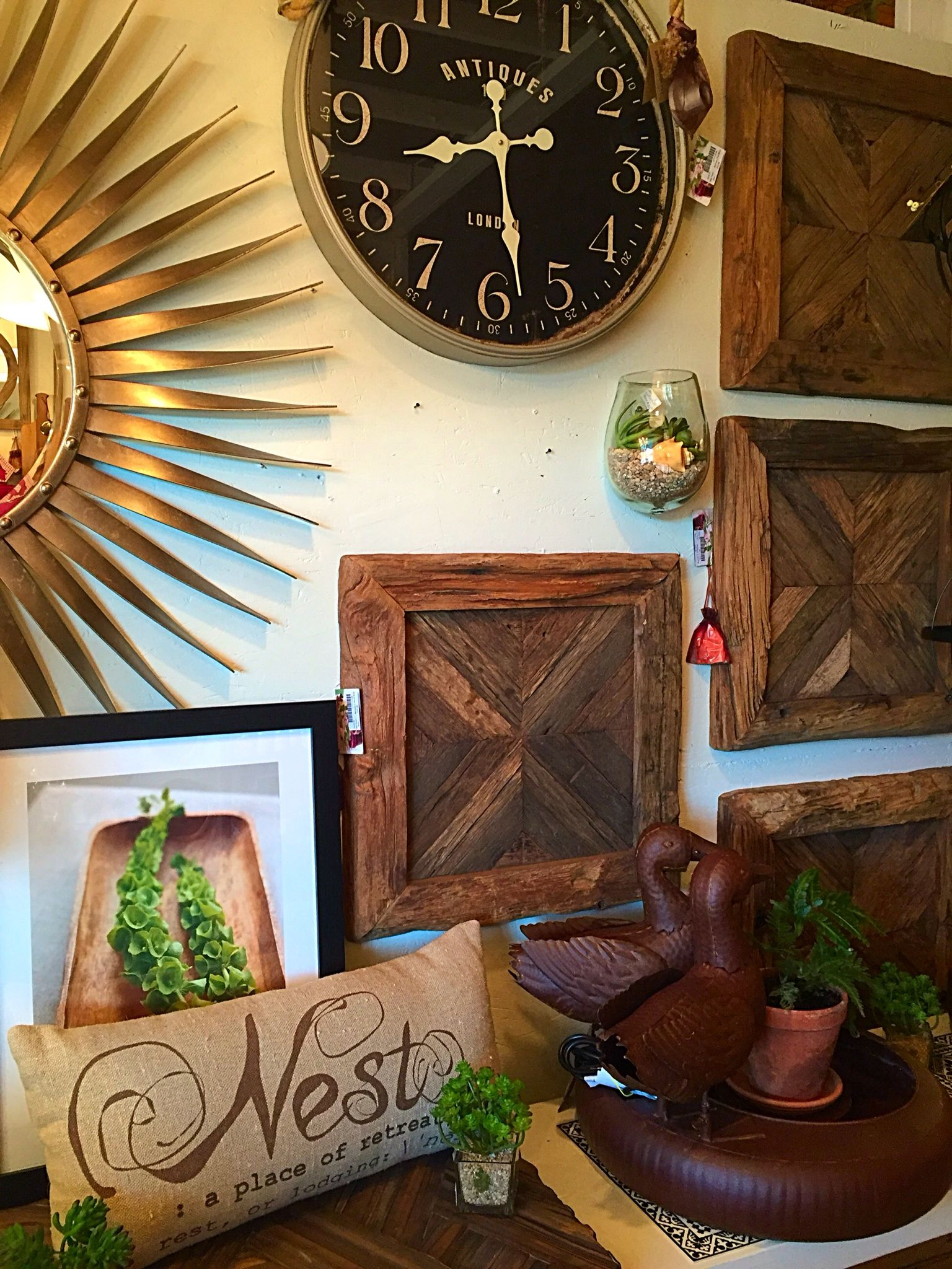 Wood wall art and Clocks Sparrow &Spoke Wood wall art
