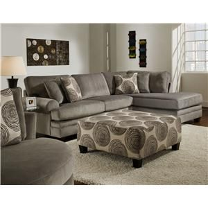 8642 Transitional Sectional Sofa With Chaise By Albany