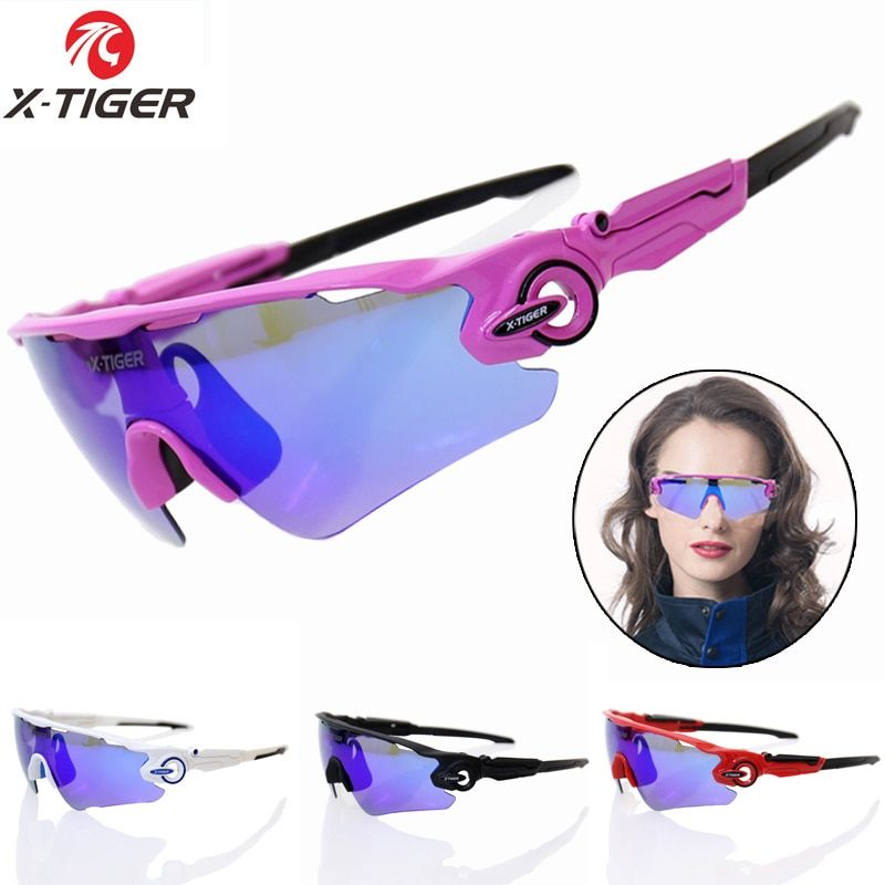 XTIGER Women Polarized Cycling SunGlasses MTB Bicycle