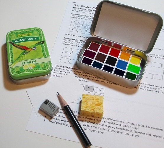 Mini Parrot Watercolor Palette In Collectible Mint Tin Artist