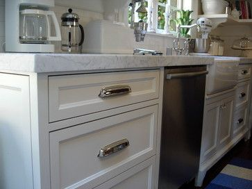 Restoration Hardware. They Are The Gilmore Cabinet Pull In Polished Nickel  And They Are Actually