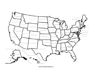 Image Result For Fill In The Blank United States Map For My Dudes - Blank-us-maps-to-fill-in