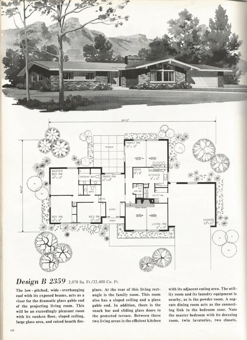 Vintage House Plans Luxury Contemporary Homes Mid Century Modern House Plans Mid Century House Vintage House Plans