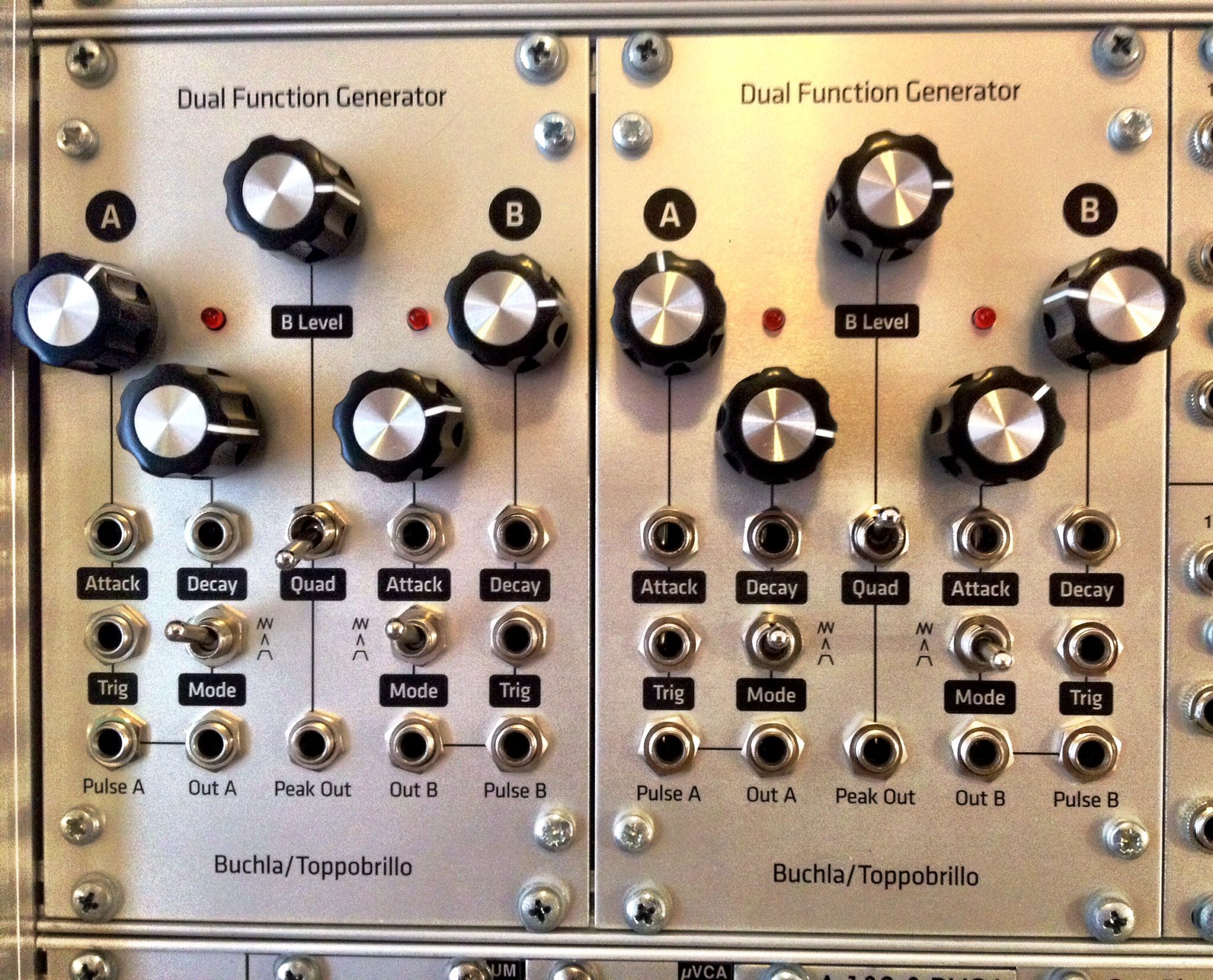 A Brace Of Completed Dual Function Generators By Buchla Toppobrillo Function Generator Synth Generation