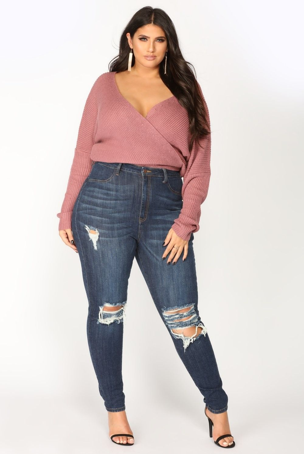 cd4825604eb Plus Size Delirious Distressed Skinny Jeans - Dark Denim  34.99  fashion   moda  ootd  outfit  outfits  plussize  plussizejeans  curvyjeans  curvy   curve ...