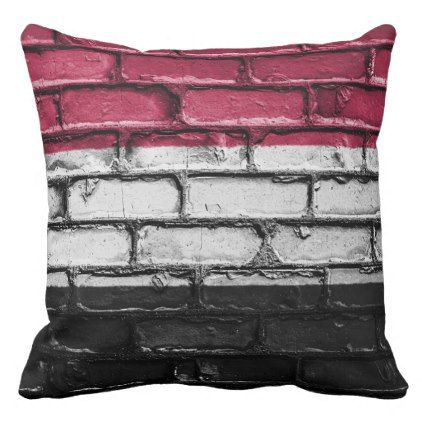 Urban Bricks  Outdoor Patio Pillow   Outdoor Gifts Unique Cyo Personalize