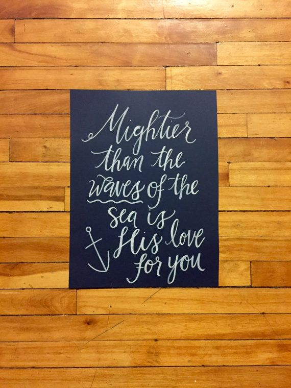 Mightier Than the Waves Print/Canvas by KVCCanvas on Etsy
