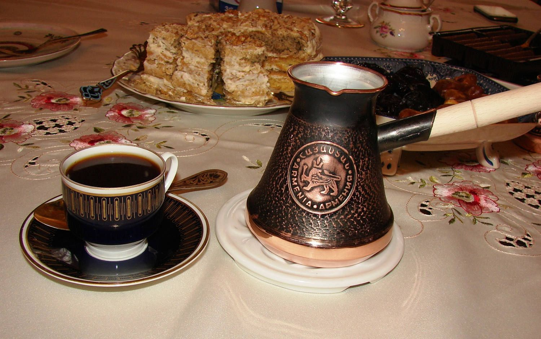 Armenian handmade coffee pot copper arabic coffee maker