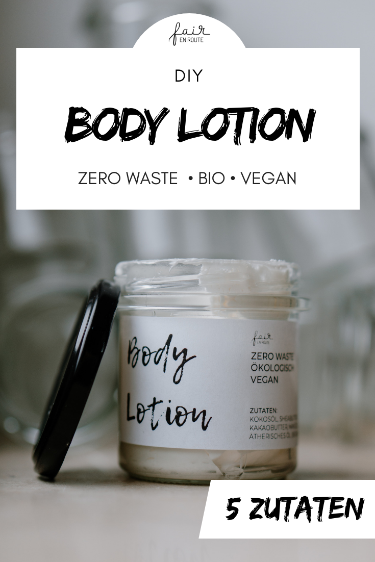 DIY Body Lotion  Zero Waste