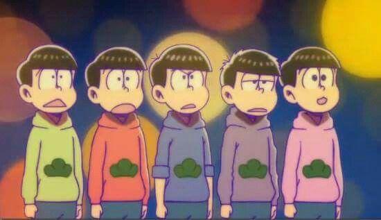 Choromatsu, Osomatsu, Karamatsu, Ichimatsu & Todomatsu