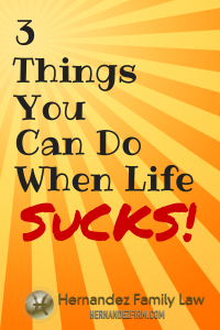 Life doesn't always go perfectly for everyone. In fact, there are times when it downright sucks. What do you do when this happens to you? Read this article to find out the 3 things you can do: http://www.hernandezfirm.com/life-sucks/  #lifesucks #allow #letitbe