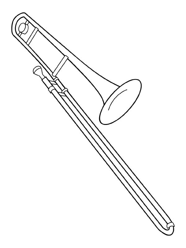 Trombone Coloring Page