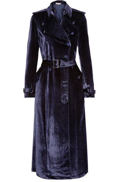 Velvet Trench Coats Promotions, Velvet Trench Coat For Ladies