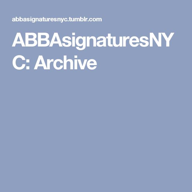 ABBAsignaturesNYC: Archive