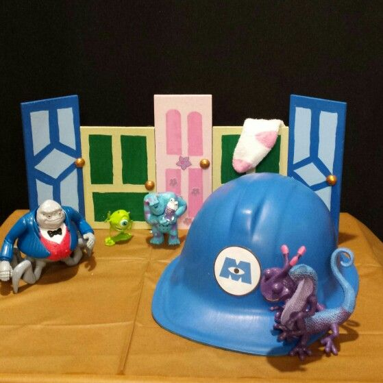 Disney monsters inc centerpiece unfinished wood from