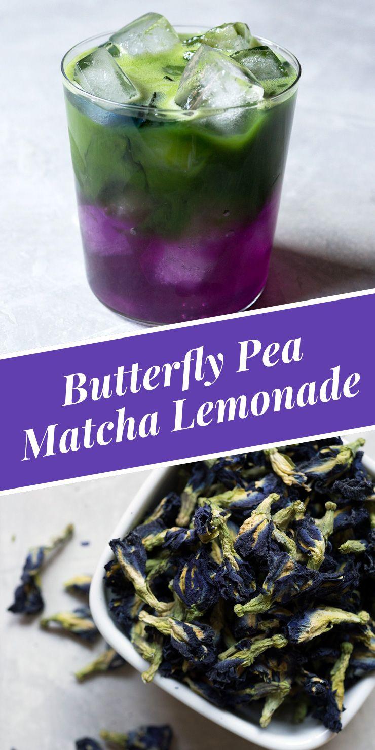 Butterfly Pea Flower Matcha Lemonade Recipe Green tea