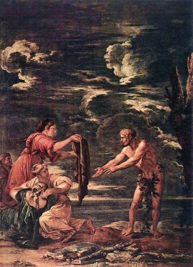 Salvator Rosa - Odysseus and Nausicaa. Tags: odysseus, ulysses, odyssey, nausicaa, nausikaa,