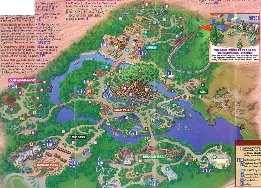 Disney\'s Animal Kingdom - 1998 | Theme Park Maps... | Pinterest ...