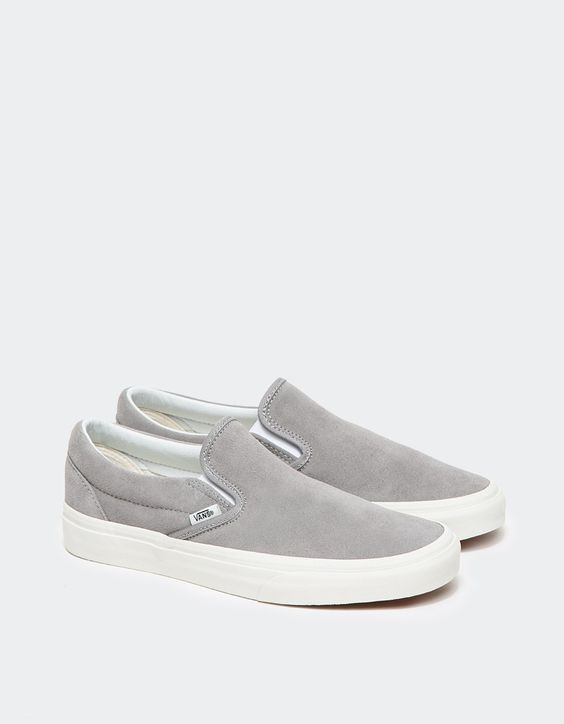 c03d21c8dea Buy Vans Women s Gray Classic Slip-on In Frost Grey