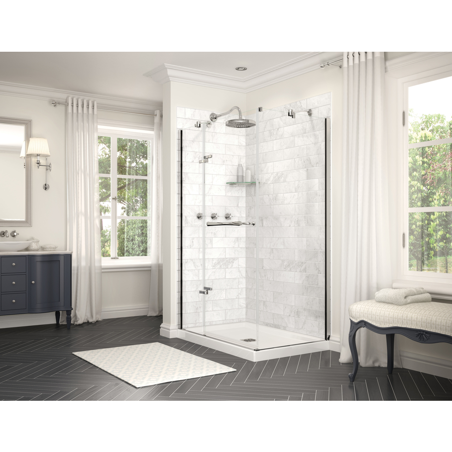 Maax Utile 32 5 In X 80 875 In Marble Carrara Shower Surround Side Wall Panel Lowes Com Wall Paneling Shower Surround Shower Walls Surrounds