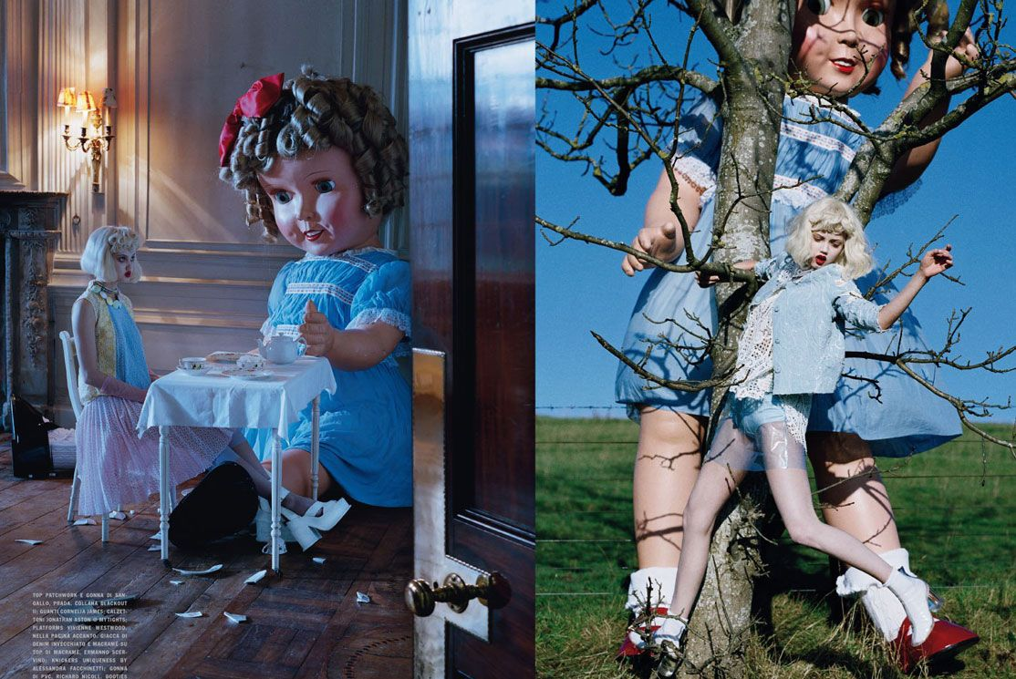 meu amor e paixão lúdica. tim walker - baby doll editorial