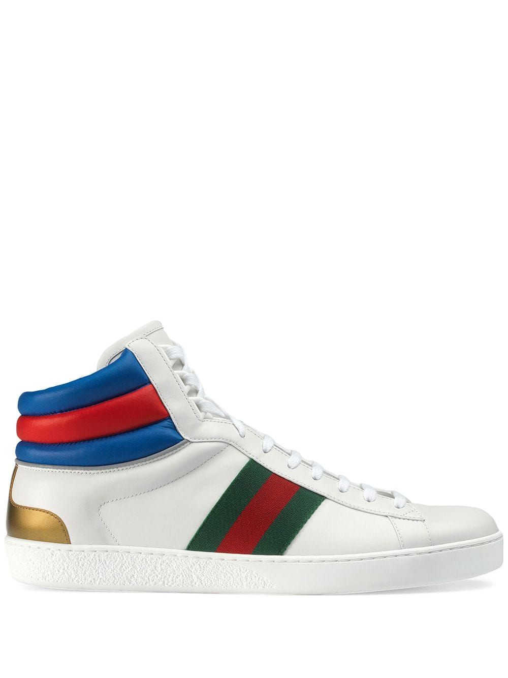87ac0173090b6 GUCCI GUCCI ACE HIGH-TOP WHITE SNEAKERS.  gucci  shoes